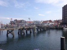 Holzklappbrücke zum alten Fischerhafen in Eckernförde